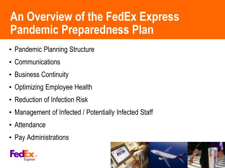An Overview of the FedEx Express Pandemic Preparedness Plan