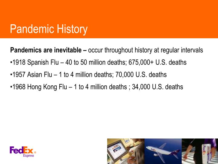 Pandemic History