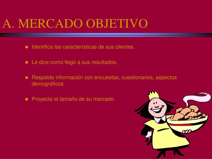 A. MERCADO OBJETIVO