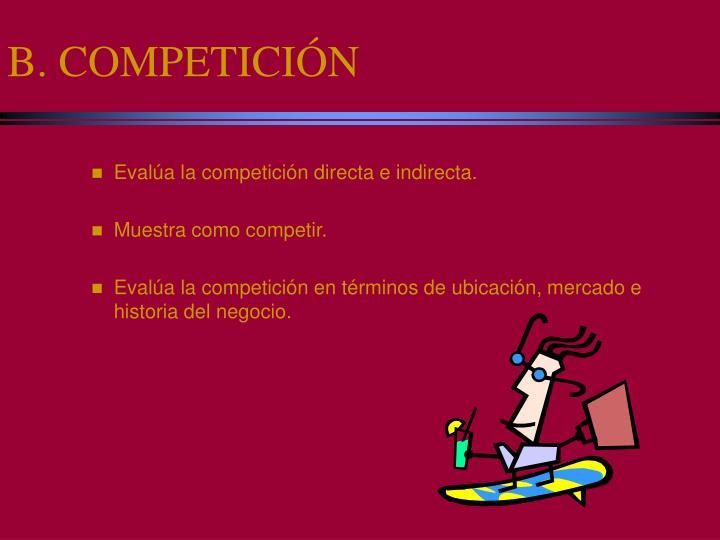 B. COMPETICIÓN