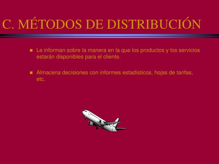 C. MÉTODOS DE DISTRIBUCIÓN