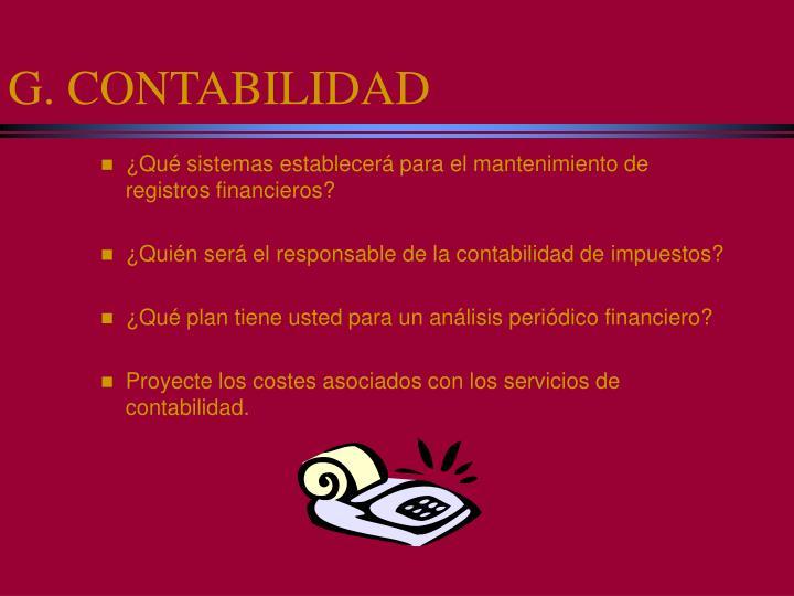 G. CONTABILIDAD