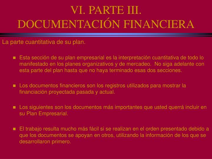 VI. PARTE III.