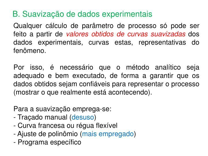 B. Suavização de dados experimentais