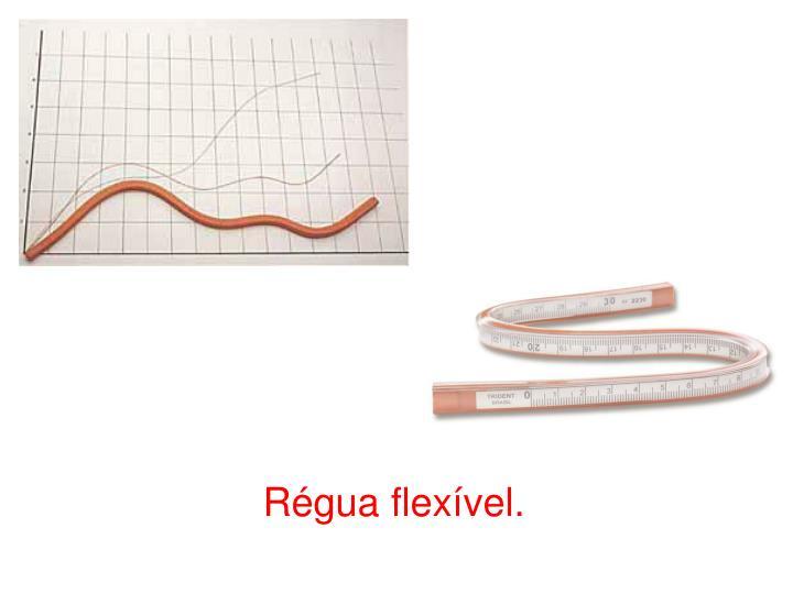 Régua flexível.