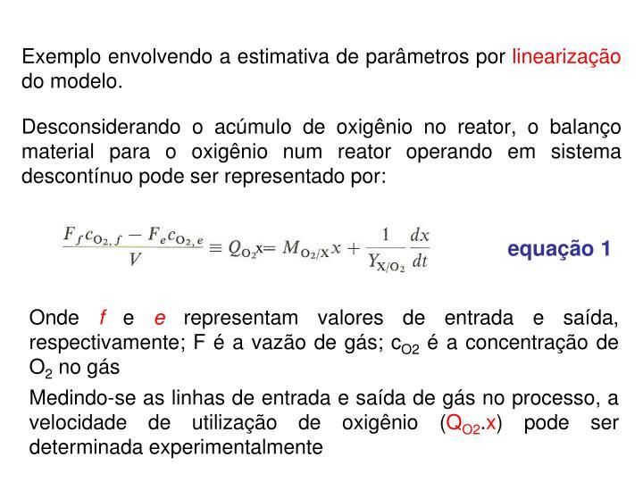 Exemplo envolvendo a estimativa de parâmetros por