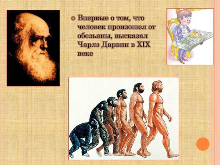 Впервые о том, что человек произошел от обезьяны, высказал