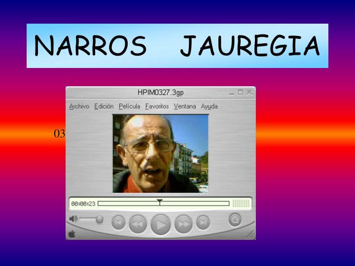 NARROS    JAUREGIA