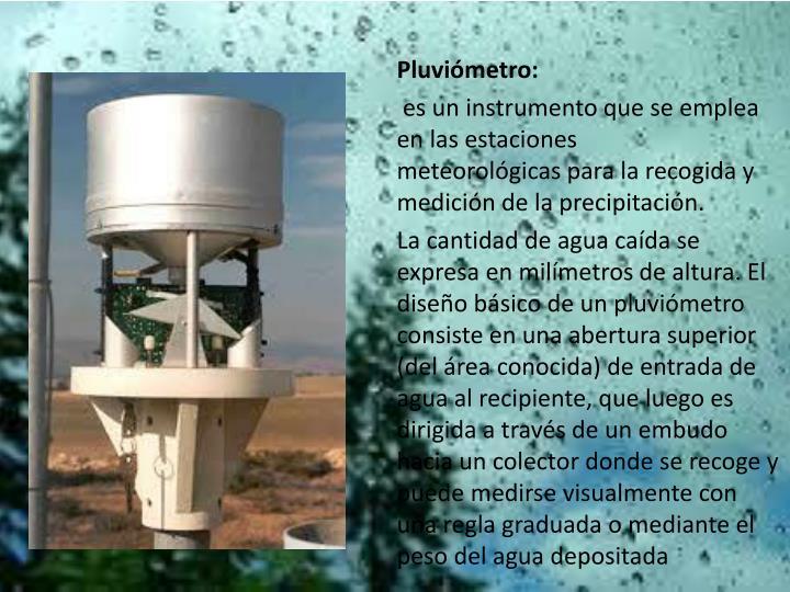 Pluviómetro: