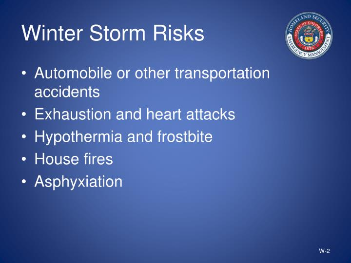 Winter storm risks