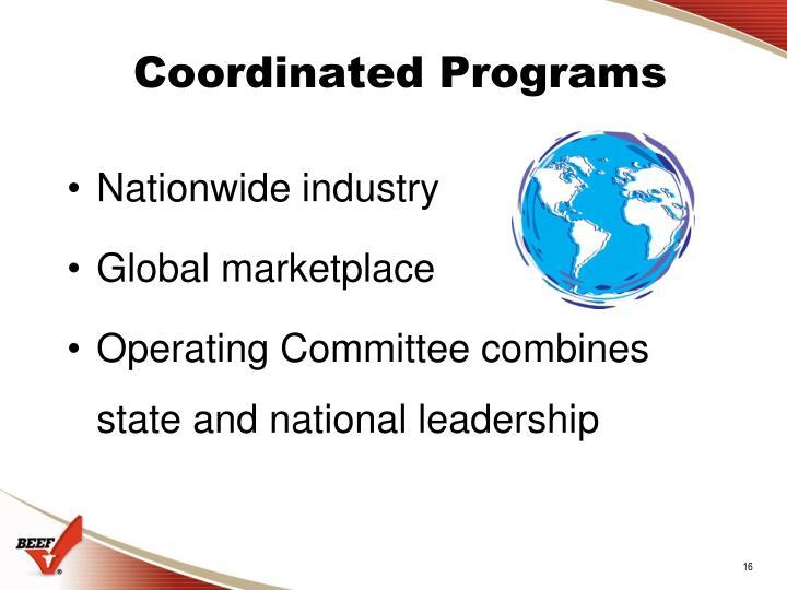 Coordinated Programs