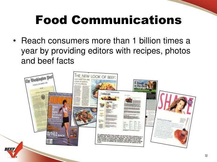 Food Communications