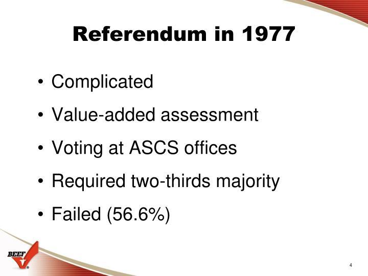 Referendum in 1977