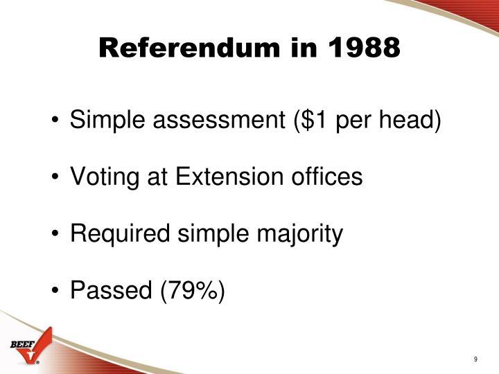 Referendum in 1988