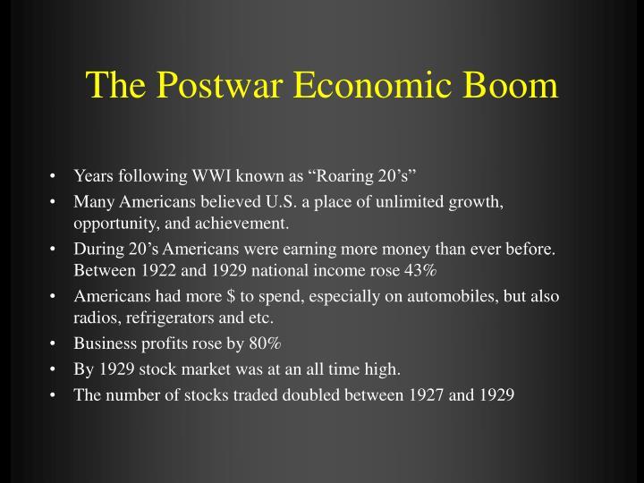 The Postwar Economic Boom