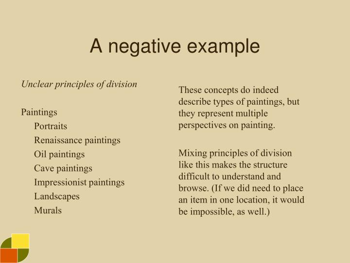 A negative example