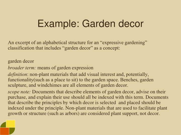 Example: Garden decor