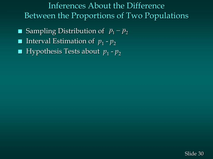 Inferences About the Difference