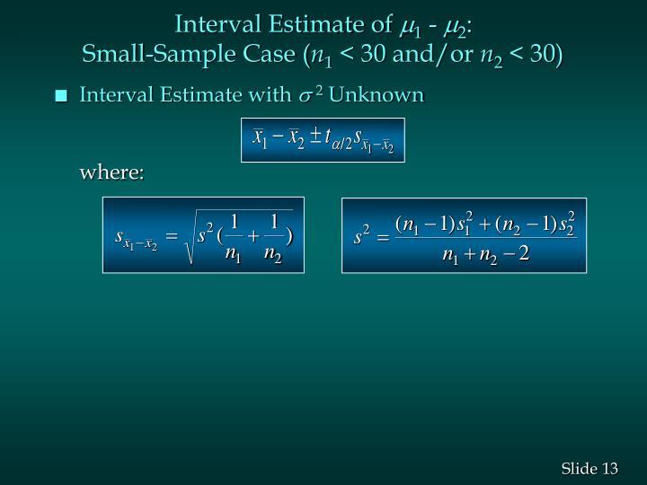 Interval Estimate of