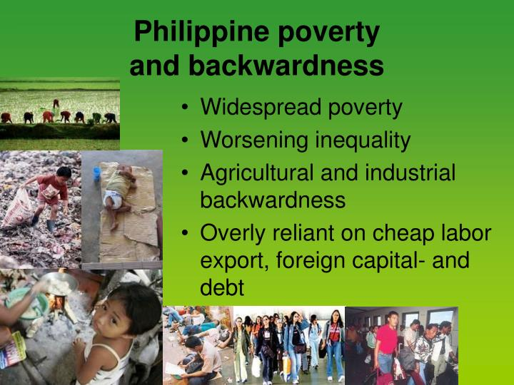 Philippine poverty and backwardness