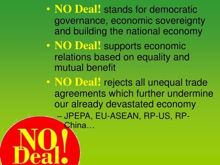 NO Deal!