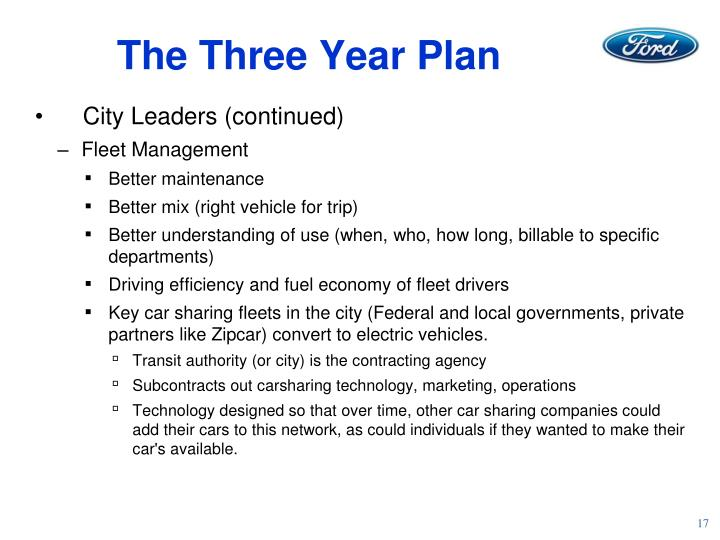 The Three Year Plan