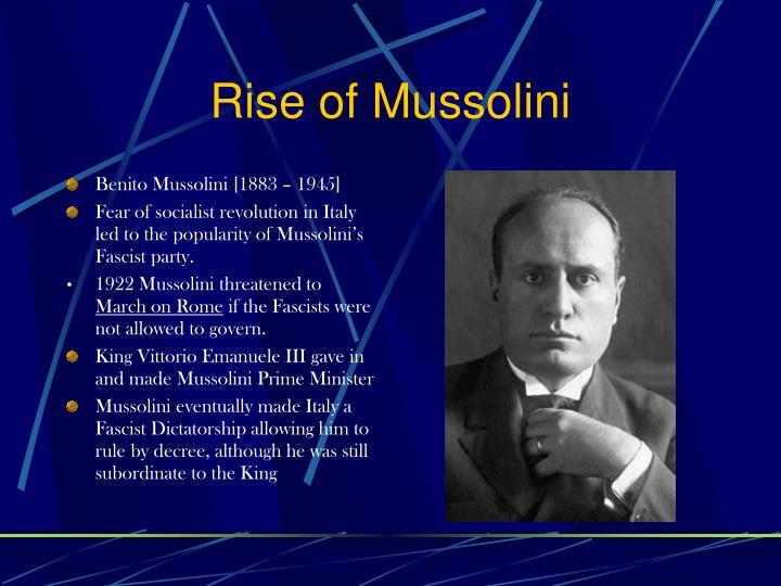 Rise of Mussolini