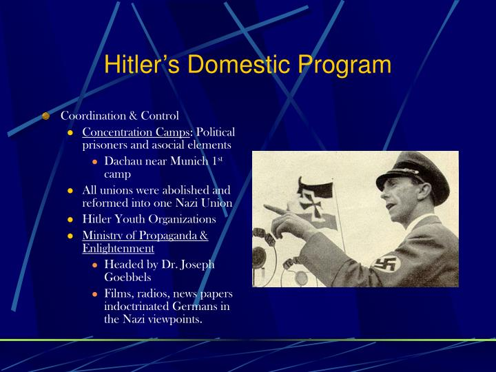 Hitler's Domestic Program