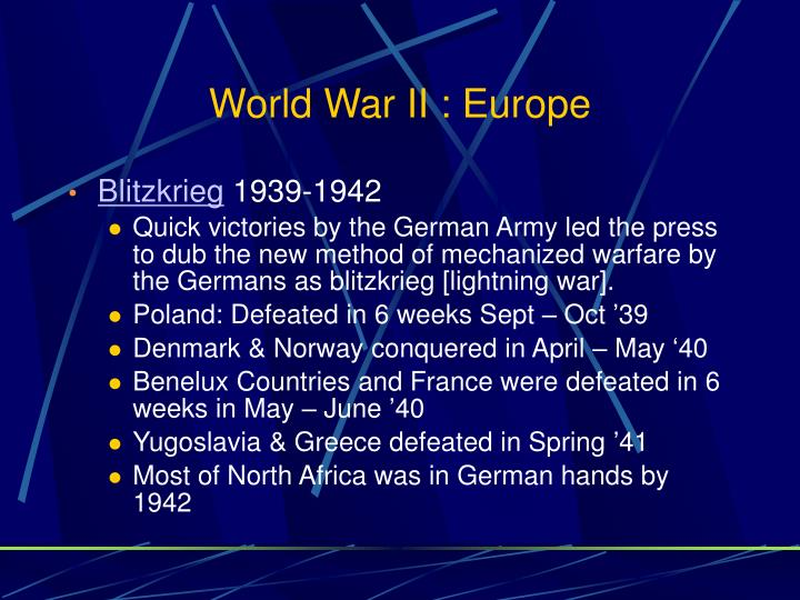 World War II : Europe