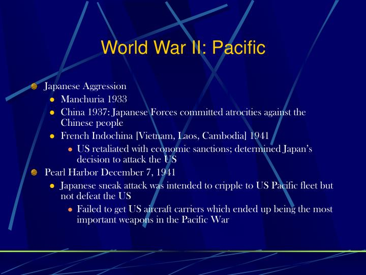 World War II: Pacific