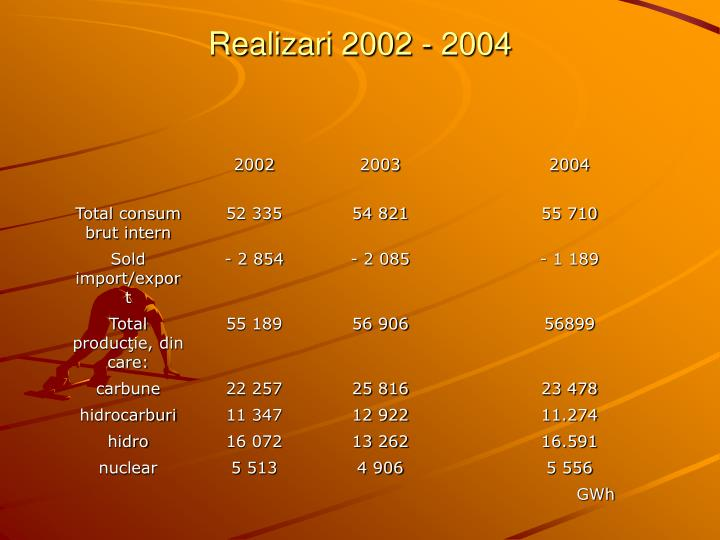 Realizari 2002 - 2004