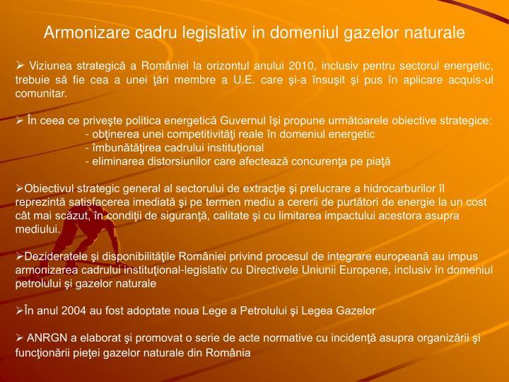 Armonizare cadru legislativ
