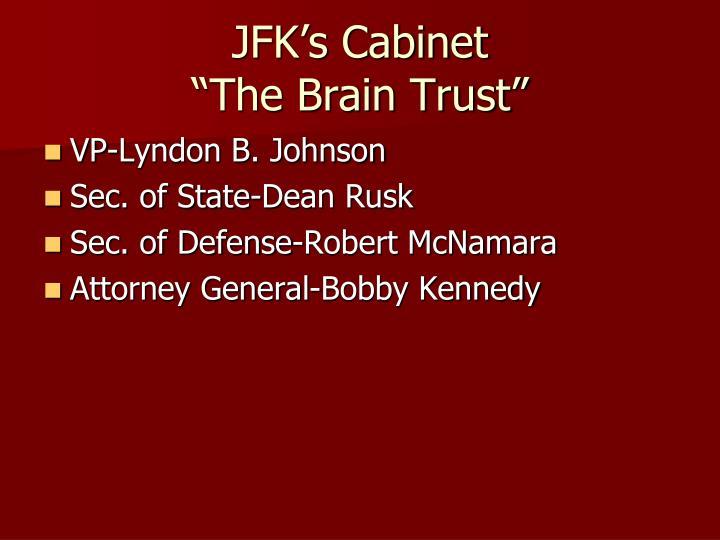 JFK's Cabinet