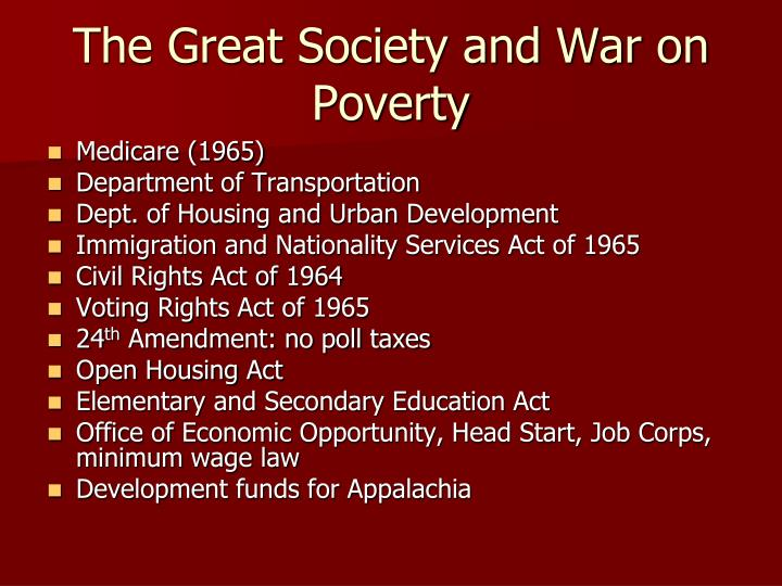 The Great Society and War on Poverty