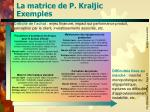 la matrice de p kraljic exemples