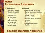 m tier comp tences aptitudes