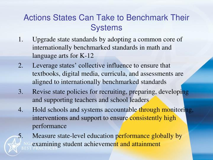 Actions States Can Take to Benchmark Their Systems