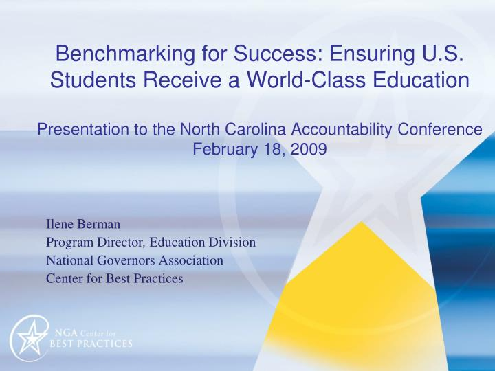 Benchmarking for Success: Ensuring U.S. Students Receive a World-Class Education