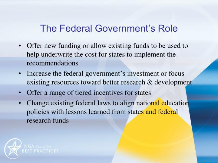 The Federal Government's Role