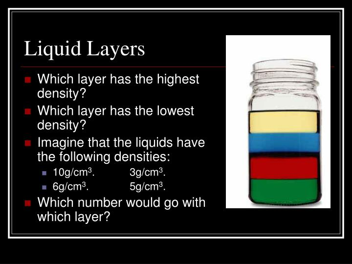 Liquid Layers