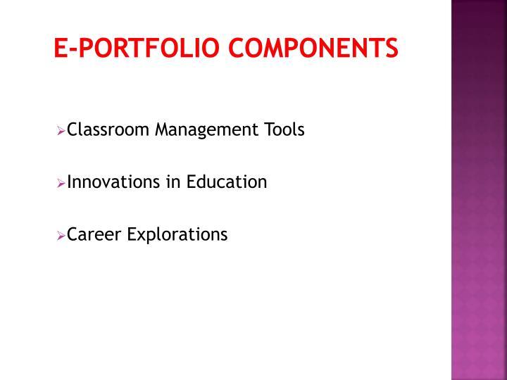 E-portfolio components