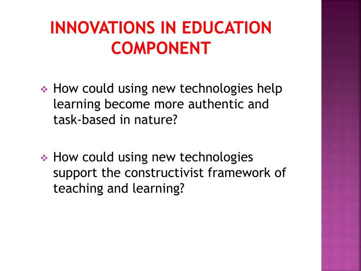 Innovations in Education