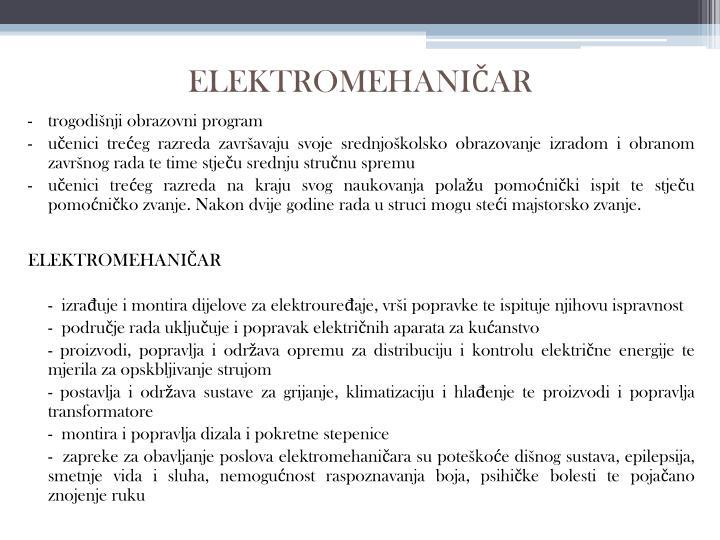 ELEKTROMEHANIČAR
