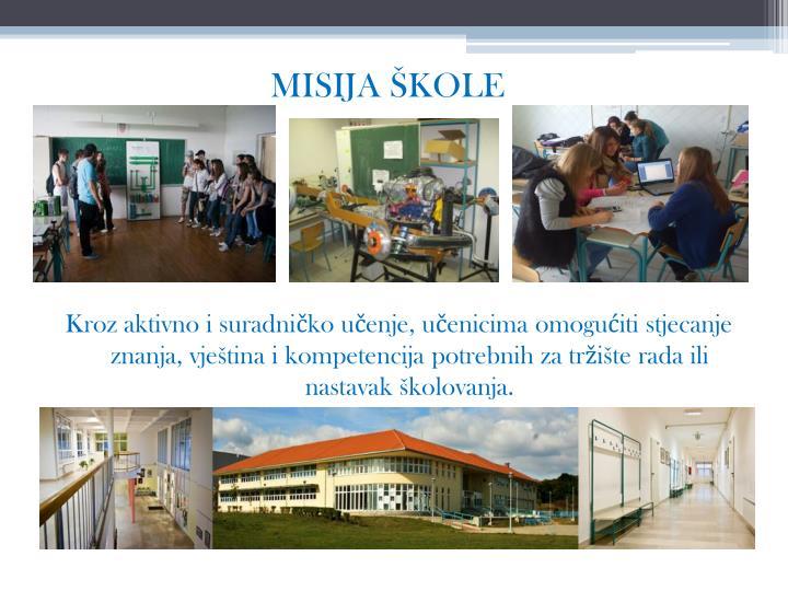 MISIJA ŠKOLE