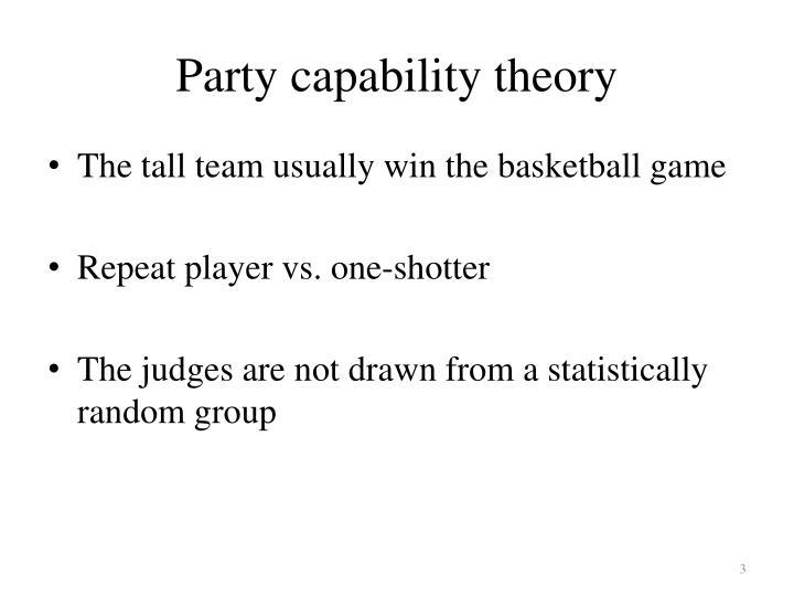 Party capability theory