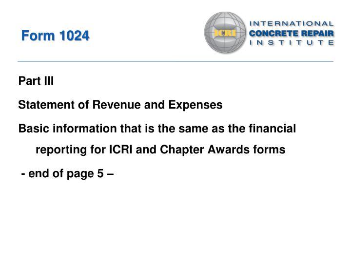 Form 1024