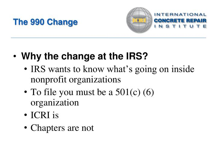 The 990 Change