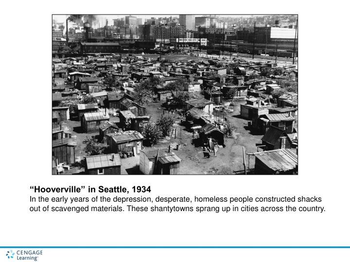 """Hooverville"" in Seattle, 1934"