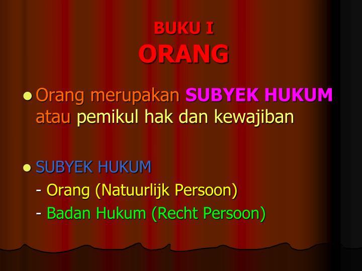 BUKU I