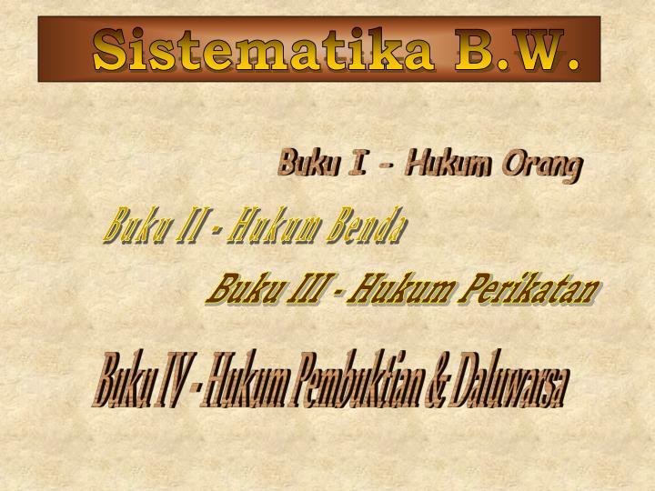 Sistematika B.W.